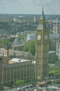 The view of Big Ben and Parliament from the London Eye